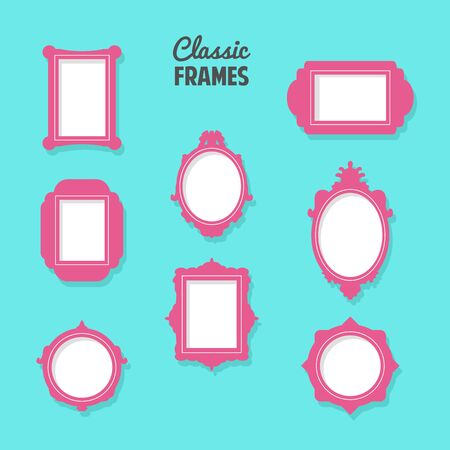 classic frames for home decoration Ilustrace