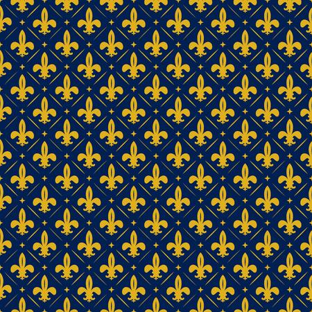 Gelbe Lilie Textur auf blauem Hintergrund