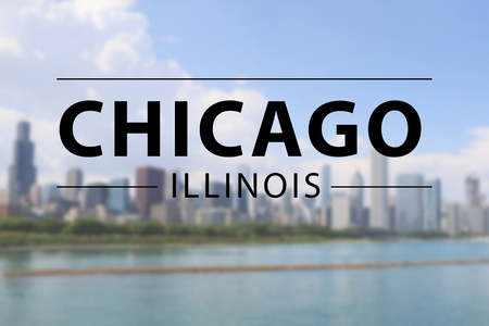chicago city in United States of America, sign