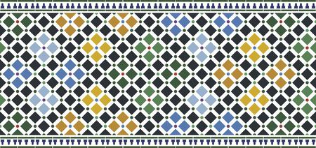 carrelage mural design alhambra