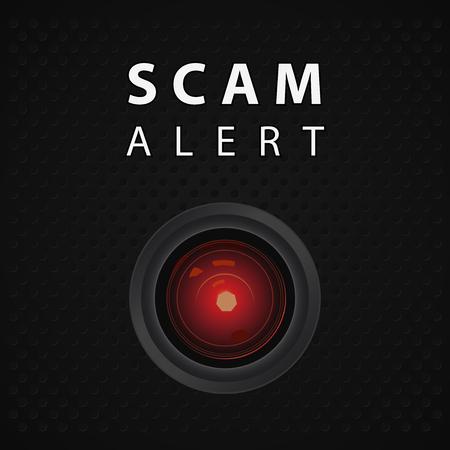 Scam alert indicator, warning poster 向量圖像
