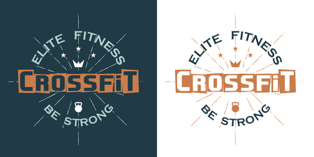 Crossfit symbol illustration , elite fitness, be strong