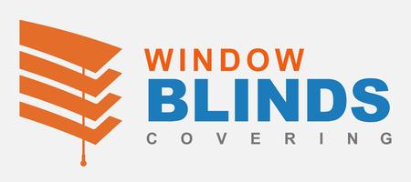 Window blinds covering logo company, Illustration