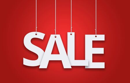 sale hanging sign in red color