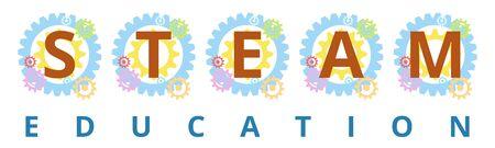STEAM Education, Science, Technology, Engineering, Art and Mathematics Stock Illustratie
