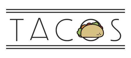 Taco simple minimal sign for restaurants