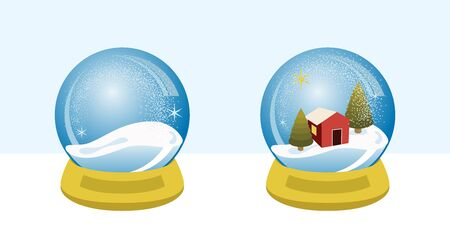 Snow globe villa, for xmas season
