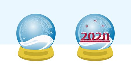 snow globe 2020, xmas season holiday