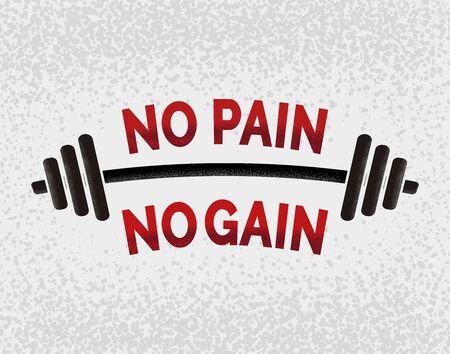 Kein Schmerz kein Gewinn. Motivationsplakat.