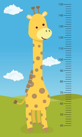 Meter wall giraffe, for childrens