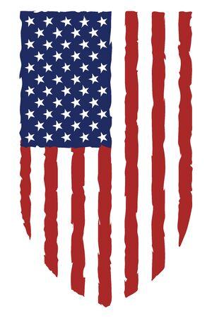 USA flag grunge destroyed grunge style