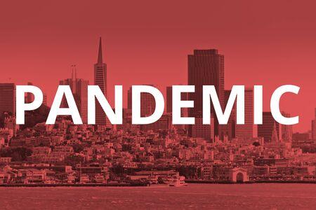 San Francisco California Bay, financial district Pandemic concept 写真素材