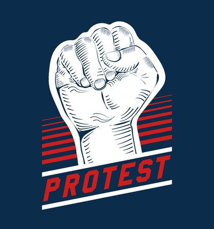 Power strength fist, fight for your rights