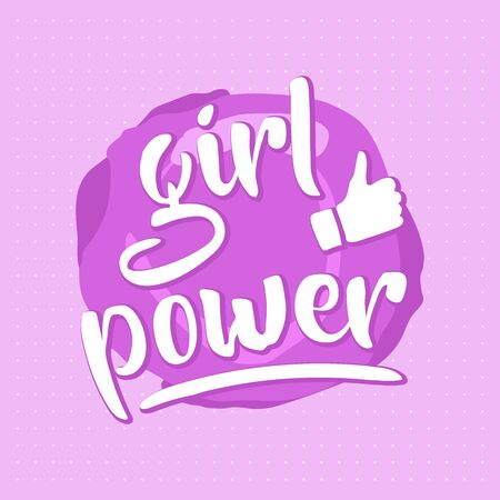 Pink girl power design for posters or print cards  イラスト・ベクター素材