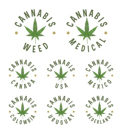 Cannabis circle stamps weed for medical use