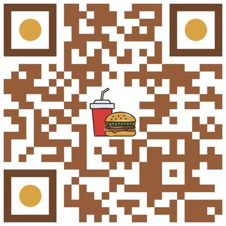 qr code fast food restaurant Stock Illustratie