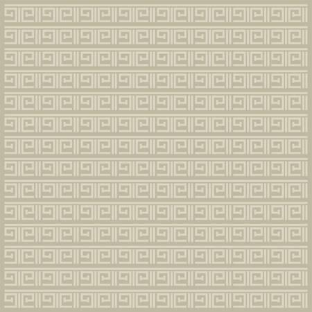 Greek Repeating Geometric Stripes Tiling. Vector Seamless Monochrome Subtle Pattern  イラスト・ベクター素材