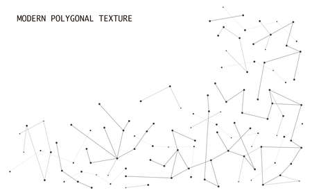 modern hi tech abstract polygonal particles