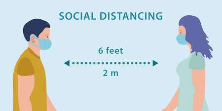 Social distancing, chart, men and women