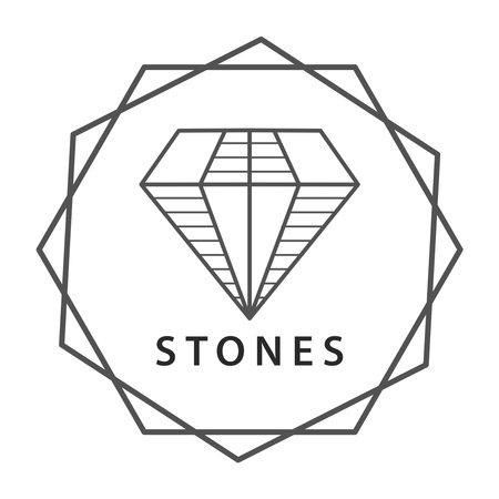 Stone jewel  , simple lines brand
