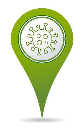 location coronavirus icon for use in maps