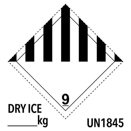 class 9 dot label, security dry ice  イラスト・ベクター素材