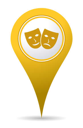 Location theater icon pin for use in maps
