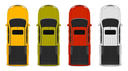 Trucks top up view, 4 colors