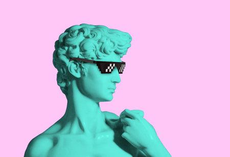 david sculpture pixel sunglasses, tugh life