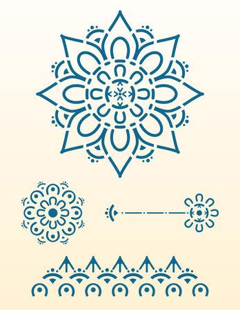 Beautiful Ornament mandala. Geometric circle element great for laser cut