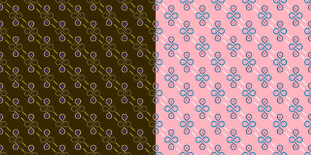 infinity circles texture, two sets in brown and pink colors