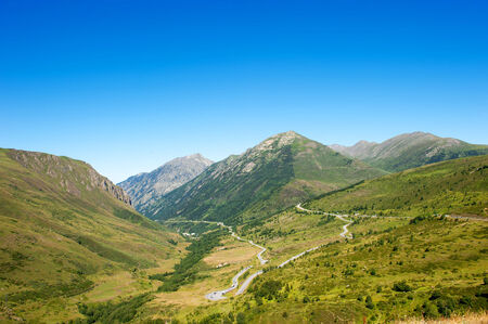 lanscape: Lanscape panoramic view of Mountains in Pyrenees Stock Photo