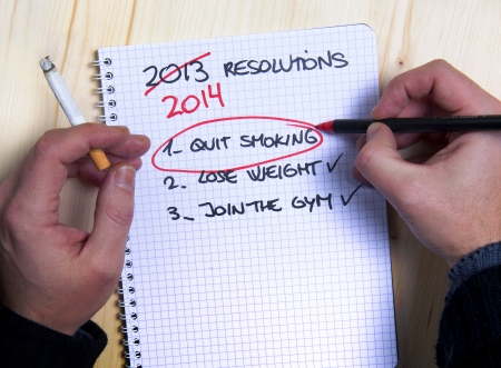 humoristic: Smoking man Last Years New Year Resolution list failed