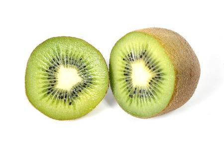 stillife: halved kiwi fruit stillife isolated on white background healthy nutrition concept