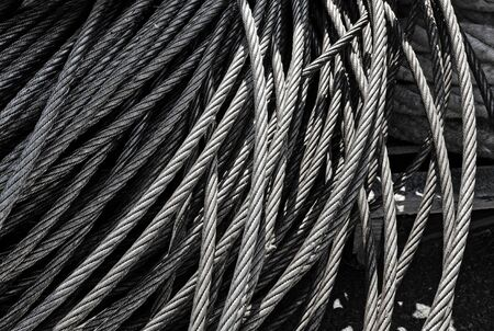 steel texture: metal texture patters of steel cable metal cords isolated in industry and bonding concept