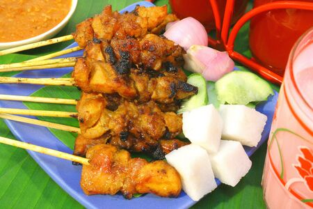 Asia Traditional Food (Satay) Stock Photo