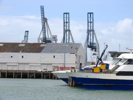 Auckland Harbor And Ship photo