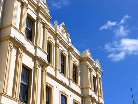 history building: History Building In New Zealand Stock Photo