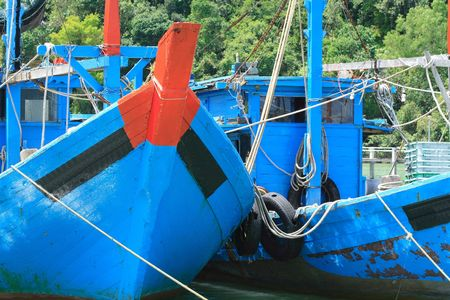 fishery products: Fisher Boat Stock Photo