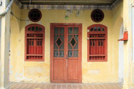 casa colonial: Residencial del sur de Asia Foto de archivo