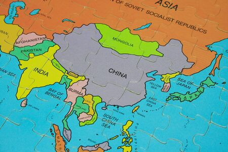 map of asia: Puzzle Map (Asia)