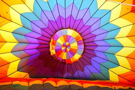 Colorful Textile Of Hot Air Balloon