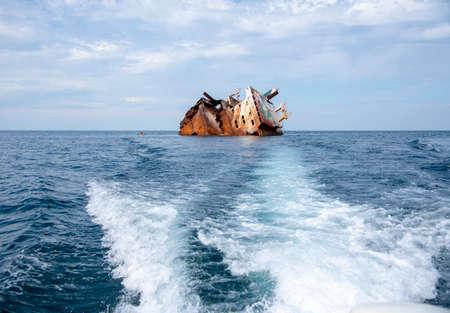 Remains of the sunken ship Ibrahim Yakim off the coast of Cape Tarhankut.