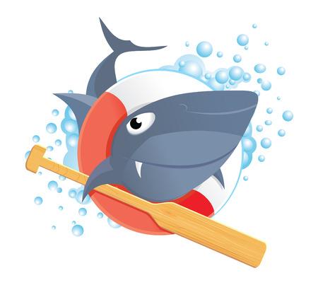 Funny shark Vector