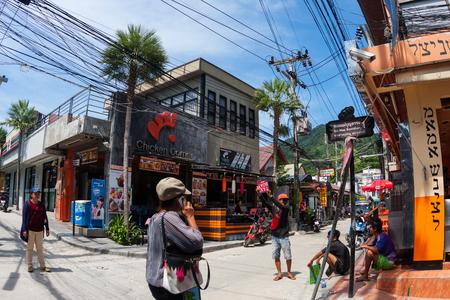 rin: Street life in Haad Rin town, koh Phangan, Thailand Editorial