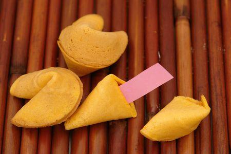Blank Fortune on bamboo matt