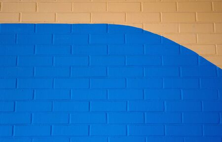 Two Tone Blue Brick Wall Background photo