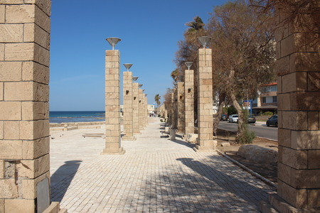 acre: The boardwalk in Acre, Israel Stock Photo