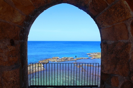 acre: The old city in Acre, Israel Stock Photo