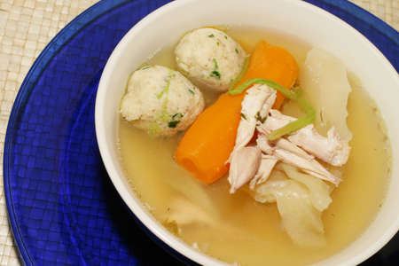 Jewish style chicken soup Stock Photo